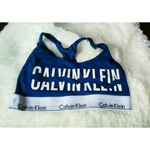 Calvin Klein sports bra blue size medium